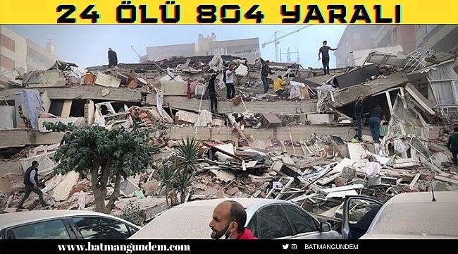İzmir Depreminde Can Kaybı Sürekli Artıyor 24 Ölü 804 Yaralı