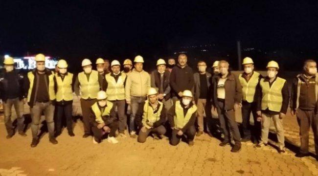 Tazminat mağduru madenciler İzmir'e yardıma gitti