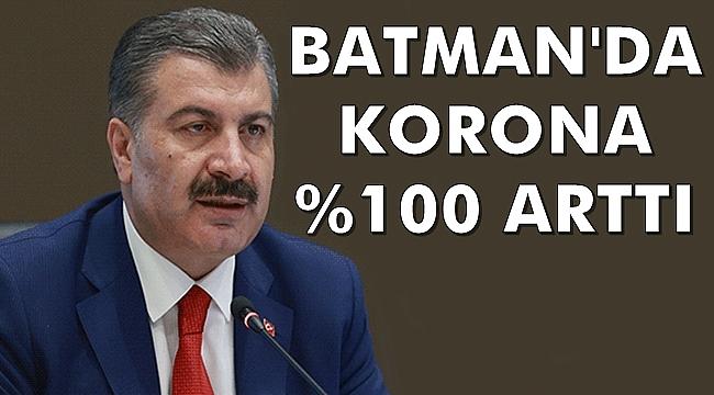 Sağlık Bakanı: Batman'da Korona % 100 Arttı