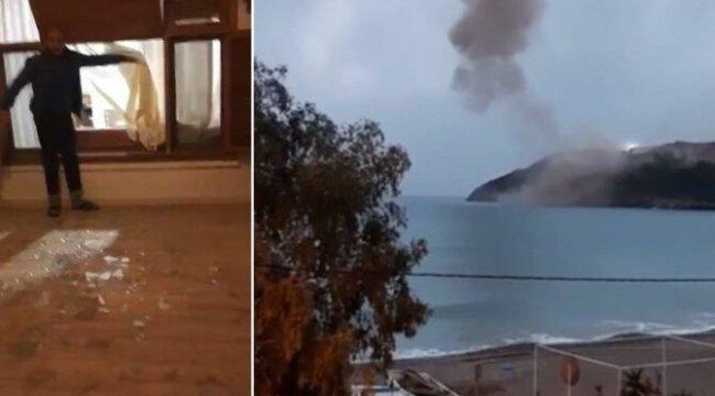 Akkuyu'da dinamit patlaması korkuttu, evler hasar gördü