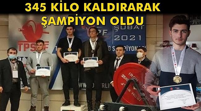 Batmanlı Genç 445 Kg Kaldırarak Türkiye Şampiyonu Oldu