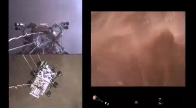 NASA, Perseverance'ın Mars'a iniş anının görüntülerini yayınladı