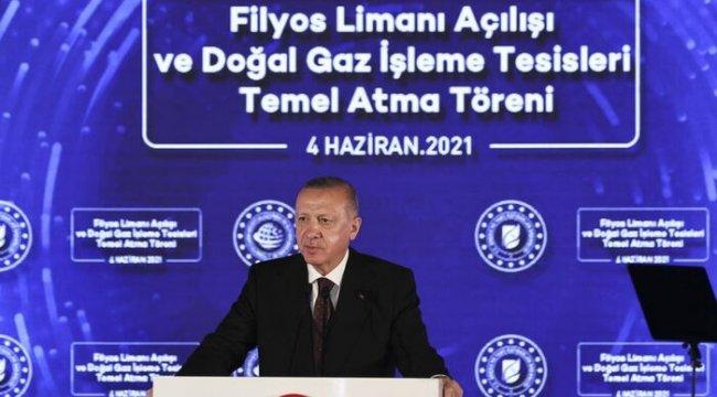 Erdoğan, 135 milyar metreküplük yeni bir doğal gaz keşfi yapıldığını duyurdu