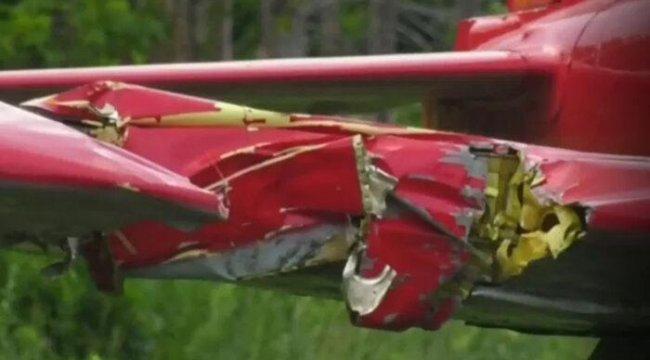 Korkunç! Kanada'da çim biçen kadına uçak çarptı
