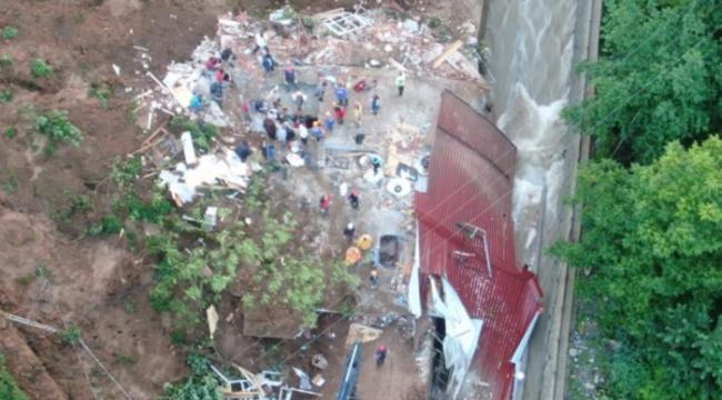 Rize'de sel felaketi! Sabahın ilk ışıklarıyla enkaz alanı gün yüzüne çıktı