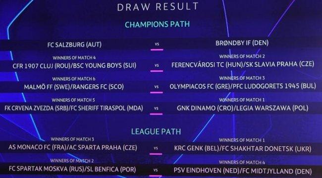 Son dakika... UEFA Şampiyonlar Ligi'nde play-off kuraları çekildi