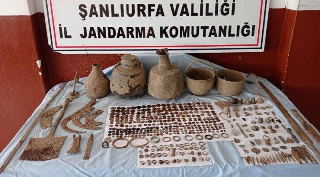 Şanlıurfa'da ele geçirildi... 528 parça tarihi eser bulundu